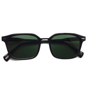 RAENoptics レイン / BASTIEN / Crystal Black / Polished Onyx - Green ブラック/ブラックメタル-ダークグリーン偏光レンズ スクエアウェリントンサングラス