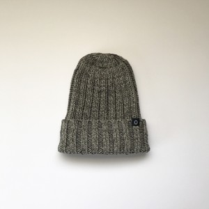 コピー:コピー:手横編機で作った・ローゲージニット帽  グレー