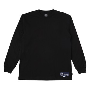 EXAMPLE COOL MAX FABRIC TAG L/S TEE / BLACK x NAVY