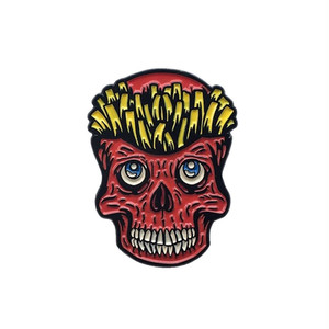 "No Fit State ピンバッジ ソフト エナメル ""Skull Fries Pin"" AJ00601"