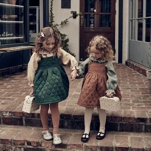 【予約】【pourenfant】Quilted Mellow Skirt