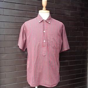"""50~60's """"Harris&Frank"""" Stripe Patterned Pull Over Short Sleeve Shirt 50~60年代 """" ハリス&フランク """" ストライプ プルオーバー 半袖 シャツ"""