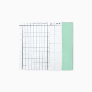 DIARY PAPER YEAR&MONTHLY セット(リフィル)
