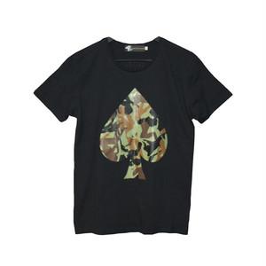 4bet BIG SPADE Tシャツ/ブラック