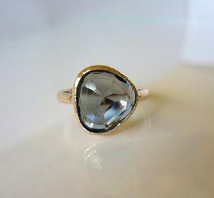 ロンドンブルートパーズのK10の指輪