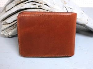 薄型二つ折り財布 ブラウン