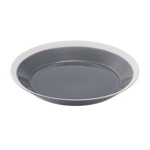 yumiko iihoshi porcelain(ユミコイイホシポーセリン)×木村硝子店 dishes 220 plate (fog gray) プレート 皿 22cm 日本製 255572