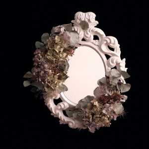 hydrangea mirror vintage   5