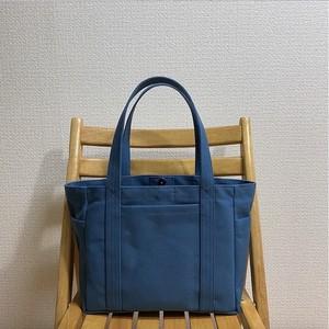 「混合トート」中サイズ「ミネラルブルー」 帆布トートバッグ 倉敷帆布8号