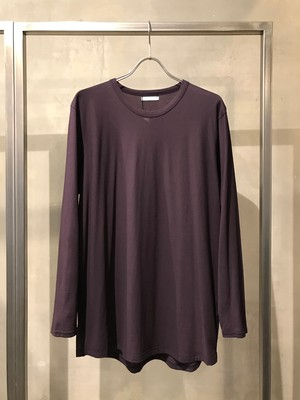 T/f round cut long sleeve top - dark berry