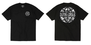 BUTTER GOODS COLLAGE WORLDWIDE LOGO S/S TEE BLACK サイズM