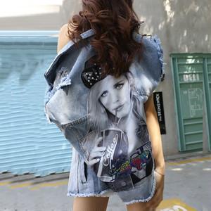 【アウター】デニムファッションプリントストリート系個性的人気ベスト44699841