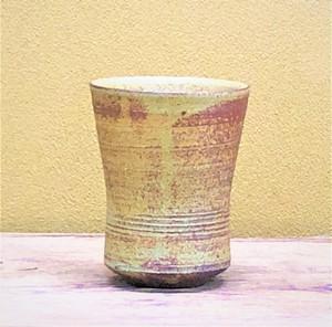 伊羅保釉ビアカップ