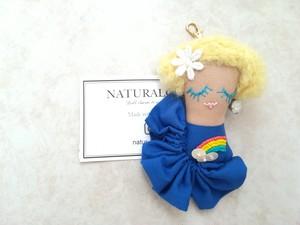 【Faceブローチ&キーチャーム】Hawaiianレインボーgirl (DEEPブルー)