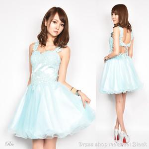 SALE (Sサイズ) ミニドレス  ビジュー刺繍 ドレス パーティー 二次会 0296