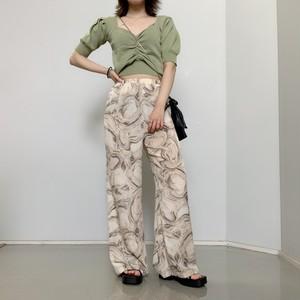 【即納】韓国ファッション マーブルイージーパンツ