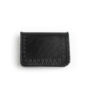 CONSIGLIERE/コンシリエーレ Star leather card case/Black