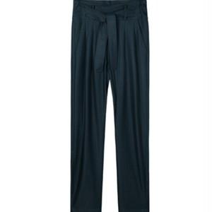 モダール素材パンツでリラックスユニセックス/青/送料無料