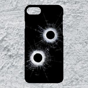 【iPhone8/7対応】弾痕ハードケース