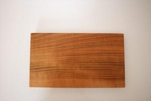 松下由典|木のトレー長方形(L)桜材