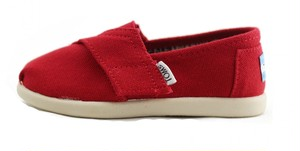 Canvas Tiny TOMS Classics  ( Red ) トムス キッズ