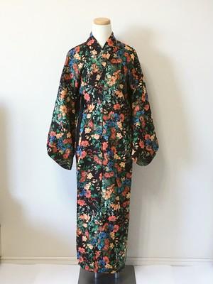 【完売】 2分で着れるかんたん浴衣単品(ボタニカルブラック)