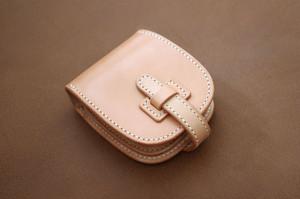 【受注製作】本革サドルレザーのショート財布【フラップ】