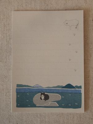 ざらざら紙のレターセット『ひなたぼっこ』
