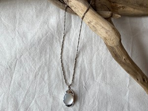 <vintage silver925>mother of pearl necklace