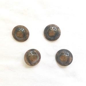 オランダボタン(マーブルブラウン ハット)