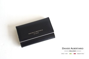 ダヴィデ アルベルタリオ  DAVIDE ALBERTARIO グレインレザーキーケース ブラック