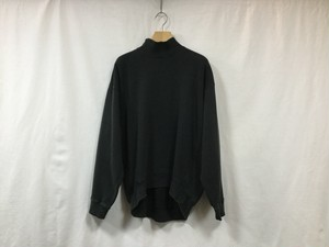 "MAISON EUREKA "" HIGH NECK SWEAT SHIRT "" BLACK"