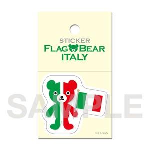 FLAG BEAR STICKER <ITALY> イタリア (小(S))