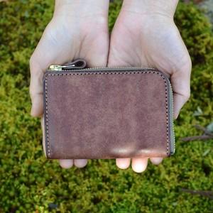 L字ファスナー短財布「ティオミニ・ダークブラウン」