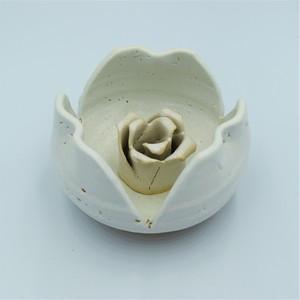 薔薇剣山白&花器