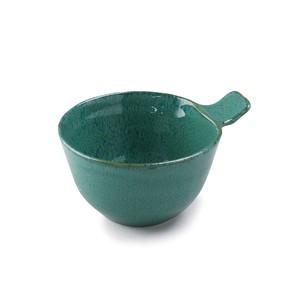 「ナチュラルカラー Natural Color」取っ手付きカップ ボウル 皿 高さ7.3cm グリーン 美濃焼 517053
