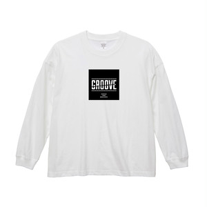 GrooveロンT(WHITE) Big Silhouette Style