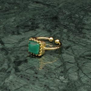 SINGLE SQUARE STONE RING GOLD 002