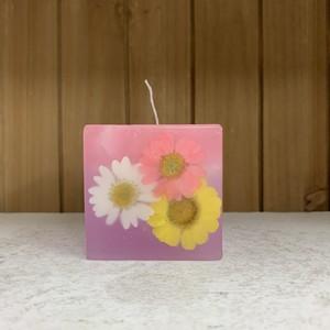 FLOWER CUBE CANDLE キャンドル 【ラベンダーの香り】