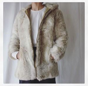 Vintage Faux Fur Hooded Coat