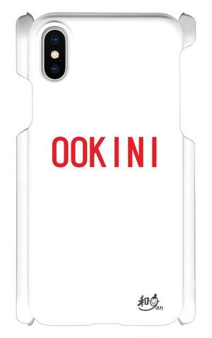 iPhoneXケース 赤ロゴOOKINI