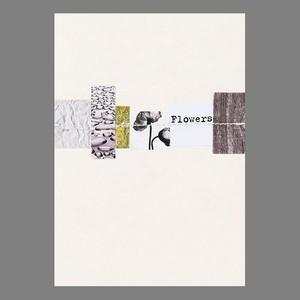 コラージュのカード Flower  #161