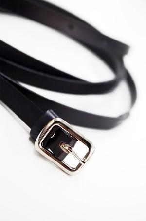 グラースオリジナル二重巻レザーベルト帯〆 黒