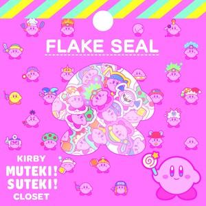 星のカービィ KIRBY MUTEKI! SUTEKI! CLOSET フレークシール  (1) ピンク /  エンスカイ