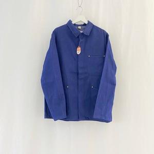 GERMANY 70s~vintage cotton×poly denim work jacket-DEAD STOCK-
