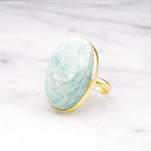 SINGLE BIG STONE RING GOLD 029
