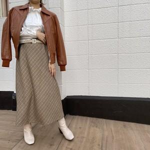 《KEITH》check long skirt チェック ロング スカート