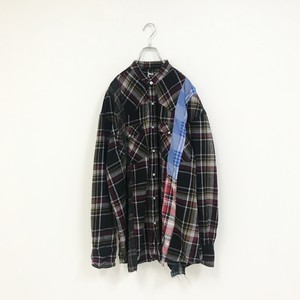 REMAKE CHECK SHIRT(BLACK)