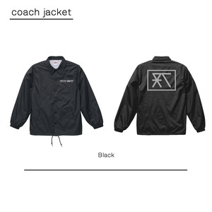 RC-logo コーチジャケット【BLACK】 (coach-jacket)