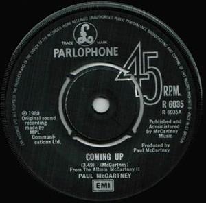 【シングル】PAUL McCARTNEY/Coming Up